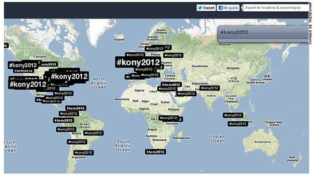 Los menores de 30 años popularizaron en internet el video «Kony 2012»