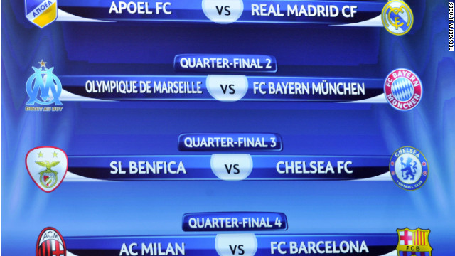 Real Madrid vs. Apoel y Barça vs. Milán en cuartos de final de la «Champions»