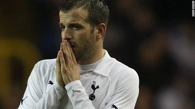 Tottenham's Rafael Van der Vaart was one of many players who offered their support for Muamba via micro-blogging website Twitter.