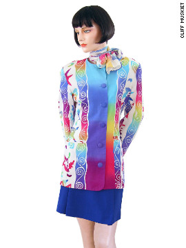 The vibrant technicolor of Bangkok Air's uniform is a throwback to the 1970s designs of many American airlines.