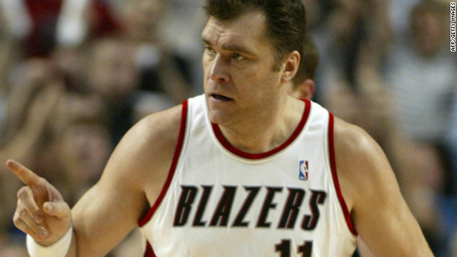 Another former NBA star, Arvydas Sabonis, survived a heart attack while in a game in his native Lithuania in 2011 at the age of 46.
