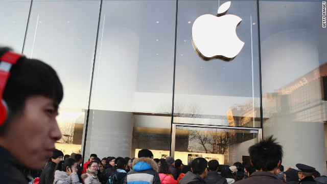 Apple's flagship store in Beijing. Will America win the race on innovation?