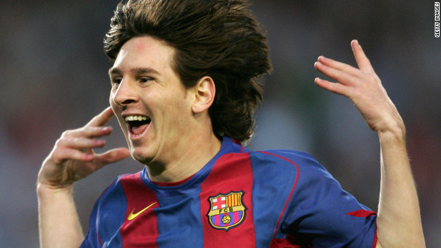 Messi's first goal for Barca came in May 2005 against Albacete, a strike which made him the youngest goalscorer in the club's history. The record was later broken by Spain's Bojan Krkic, who is now with Italian Serie A side Roma.