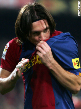 The Argentine cemented his position in Barca folklore in March 2007 when he scored a hat-trick against archrivals Real Madrid in a 3-3 draw. He was the first player to score a treble in the &quot;El Clasico&quot; fixture since Chile's Ivan Zamarano in the 1994-95 season.