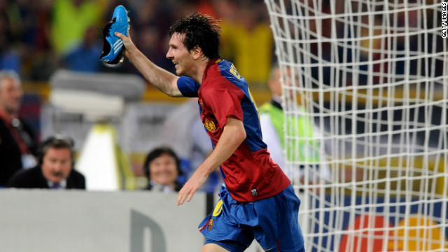 Messi headed the second goal as Barca comprehensively outplayed Manchester United in the 2009 European Champions League final, registering a 2-0 win in Rome.