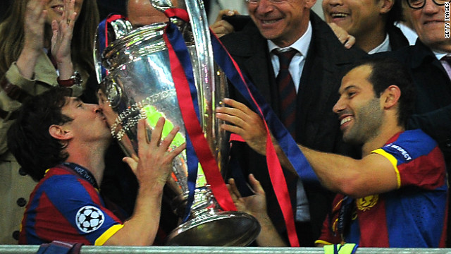 Messi haunted Manchester United in a Champions League final for the second time in 2011 when he scored the second goal as Barca beat the English Champions 3-1 at Wembley. It was Barca's third European triumph in six years.