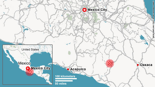 USGS: 7.4-magnitude earthquake strikes in Guerrero region of Mexico