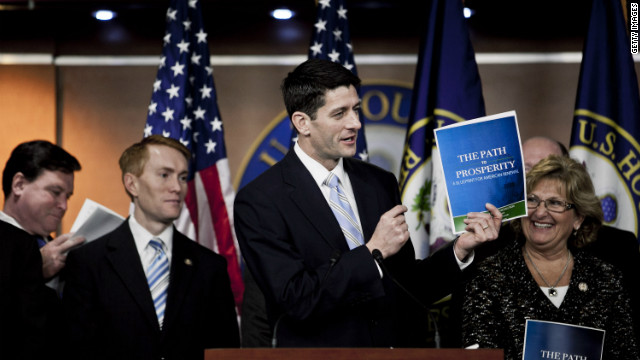 Paul Ryan and other members of the House Budget Committee introduced a budget proposal Tuesday.
