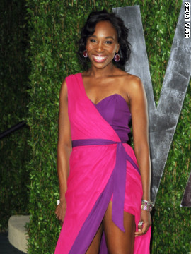Venus Williams has remained in the public eye despite her health problems, appearing at Vanity Fair's Oscars party in West Hollywood in February.