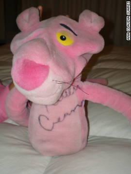 The 2010 U.S. Open champion has sent Ana an array of golf equipment, including her Pink Panther head cover.