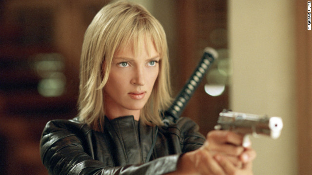 "Quentin Tarantino's bloody ""Kill Bill"" films featured Uma Thurman as The Bride, a former assassin who seeks revenge on her ex-colleagues and her lover after they almost kill her at her wedding. Thurman went on to win many awards for her role, and the martial arts-heavy film gained cult status."