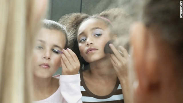 Some parents do let their girls wear makeup to school, so it's important to remind your daughter that families have different rules.