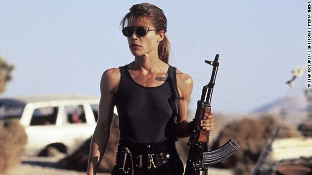 "While Arnold Schwarzenegger gained fame as the cyborg assassin in ""Terminator,"" it was Linda Hamilton's portrayal of Sarah Connor that stuck out in the sequel. In ""Terminator 2: Judgment Day"" (1991), Connor goes from fearful to warrior mother as she and the Terminator try to protect her son John from the T-1000."