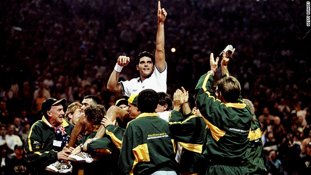 In 1999 Philippoussis won the decisive rubber against France's Cedric Pioline to seal the Davis Cup for Australia in Nice. He counts his two Davis Cup titles as his biggest achievement in the game.