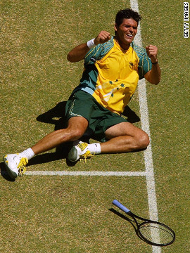 But Philippoussis made up for his Wimbledon heartache by defying a shoulder injury to beat Juan Carlos Ferrero of Spain to land the Davis Cup for Australia in front of his home town crowd in Melbourne later that year.