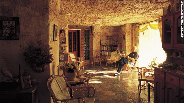 Homes and hotels are often located underground to escape the harsh climate.