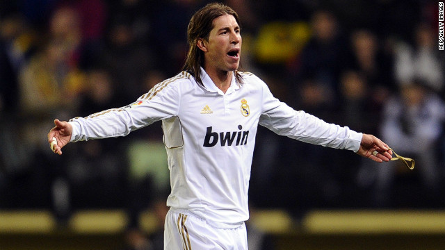 Sergio Ramos trudges off the field after being sent off in Real Madrid's 1-1 draw at Villarreal
