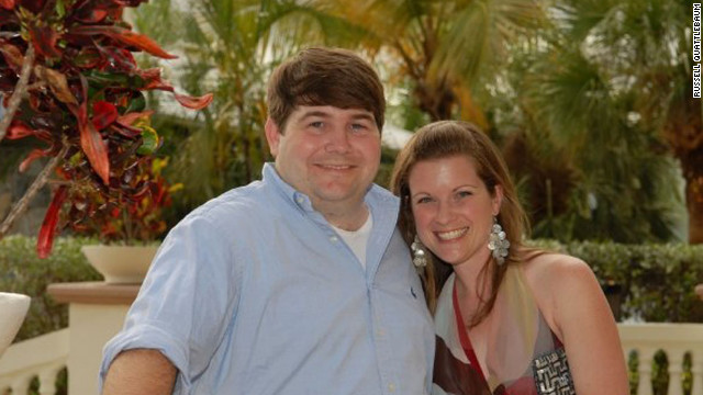 Jeff Romig with his wife, Kacy Goebel Romig, in 2009. 