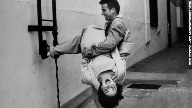 "It has been more than a year since we lost Elizabeth Taylor. In honor of the legendary actress, Life.com has published photos of her and co-star Montgomery Clift taken on the set of ""A Place in the Sun"" in early 1950. The photographer, Peter Stackpole, was able to capture the unique bond the young actors shared. Here, Taylor and Clift are seen joking around."