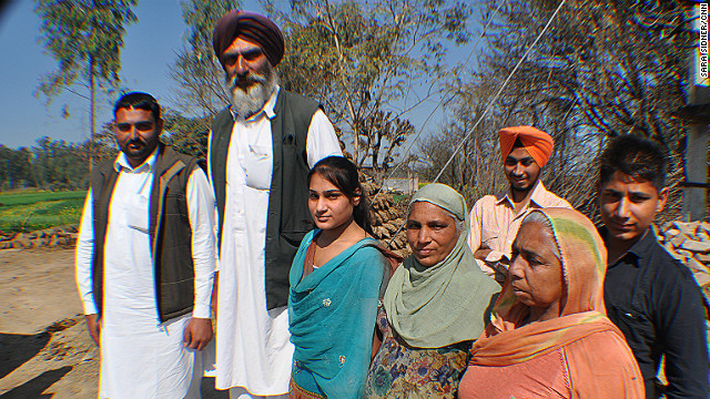 Balbir Singh, the father of NBA hopeful Satnam Singh, stands head and shoulders above the rest of his family