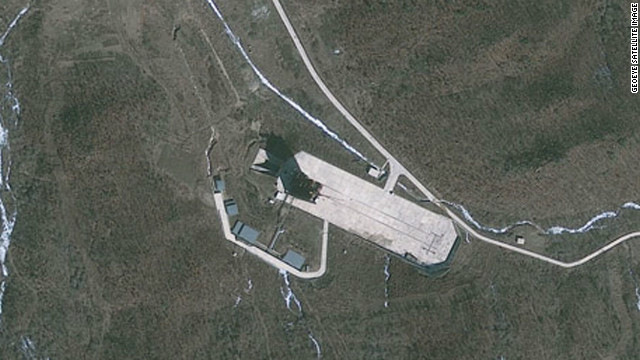 A new satellite image of a North Korean launch pad reveals a new rail extension but little on-site activity ahead of a controversial rocket launch planned for April.