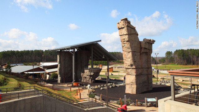 During filming, Woody Harrelson climbed the U.S. National Whitewater Center's 46-foot rock wall.