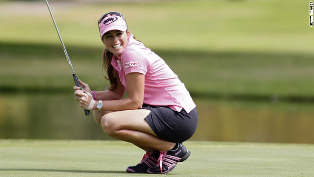 Seen here at the Guadalajara Country Club in 2010, Creamer has earned almost $9 million since turning professional -- and she invests some of that in scholarships for young players.