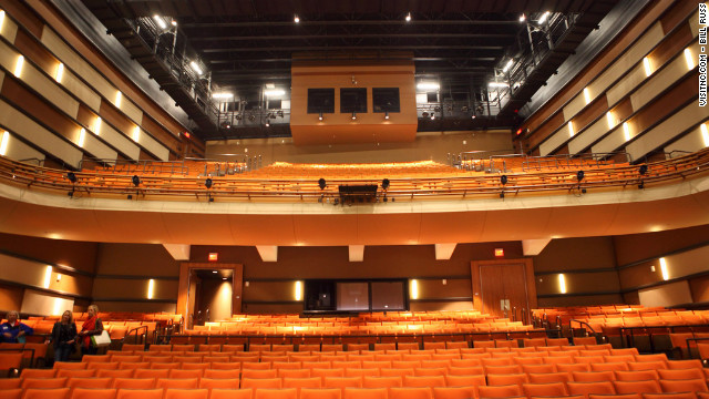The 1,191-seat Knight Theater in Charlotte hosted the Tribute interview scenes.