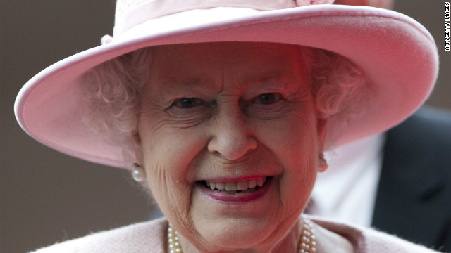 Queen Elizabeth II smiles during her visit to the Manchester Central convention centre on March 23, 2012.