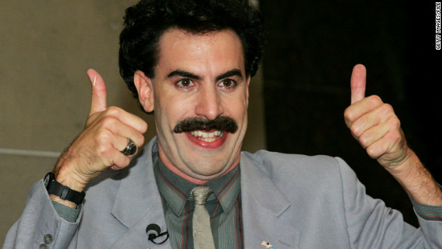 Música de 'Borat' es reproducida por error como himno de Kazajistán en evento deportivo