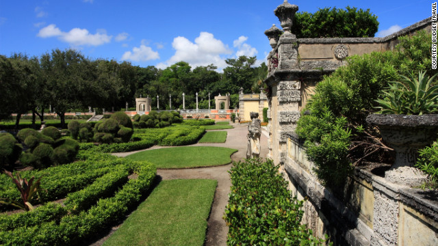 Vizcaya Museum and Gardens in Miami, Florida. <a href='http://www.budgettravel.com/slideshow/photos-beautiful-homes-gardens,8328/?cnn=yes' target='_blank'>See the full gallery on Budget Travel</a>