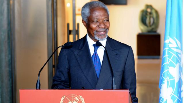 Kofi Annan, the U.N.-Arab League point man on Syria, urged the Bashar al-Assad regime Thursday to cease violence and carry out his six-point plan for peace.