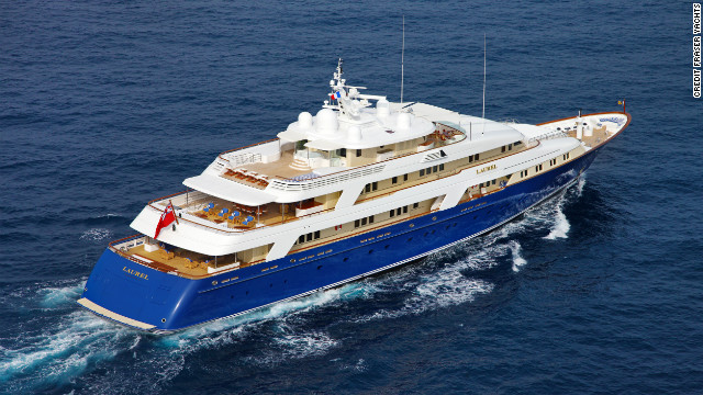 The second most expensive vessel on Fraser Yachts charter portfolio, Laurel is available for 479,000 ($639,000) a week.