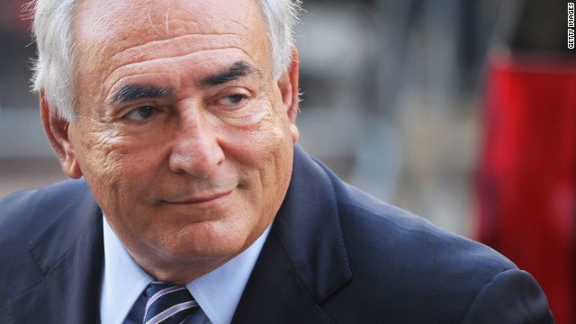 Former IMF director Dominique Strauss-Kahn enters a Manhattan court on August 23, 2011, in New York City.