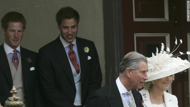 April 2009: Prince Harry and Prince William attend the marriage of their father, Prince Charles, and Camilla Parker Bowles.