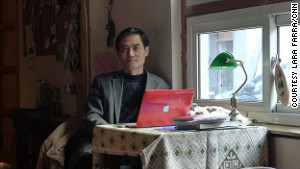 Peter Tan, in his Kaffa Cafe.