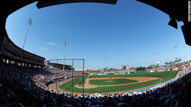 Bright House Field in Clearwater, Florida, is the spring training home of the Philadelphia Phillies.