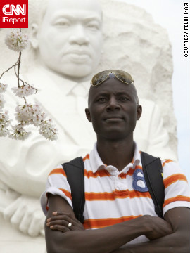 "Felix Masi, a freelance photographer, says <a href='http://ireport.cnn.com/docs/DOC-767007'>documented and marched in a Washington</a> rally to ""freeze images that will hopefully help others understand the pain and tragedy of killing innocent people because of their color."""