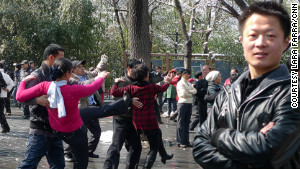 Fu Da Wei teaches dance at Purple Bamboo park.