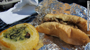 Cheese steaks and knishes are available at Bright House Stadium, spring training home of the Philadelphia Phillies.