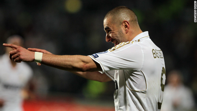 Karim Benzema scored twice for Real Madrid in their comfortable victory in Cyprus.