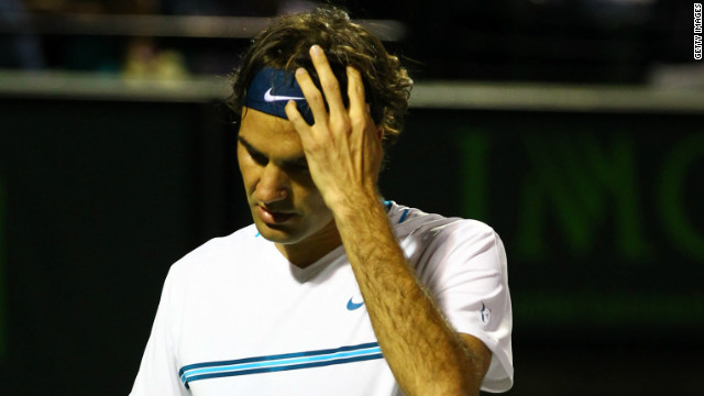 Former world No. 1 Roger Federer has already won three titles in 2012, but saw his 16-match winning run ended.