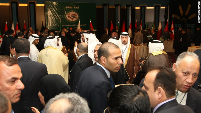 Leaders attend the Arab economy, finance and trade ministers meeting as part of Arab League Summit on Tuesday in Baghdad.