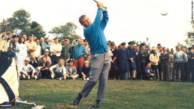 "In the 1960s, Palmer was arguably the most popular sportsman in the world. From 1960 to 1963 he won a remarkable 29 tournaments and, as his popularity and fame grew, so did the legions of fans who would follow his every move -- known as ""Arnie's Army."""