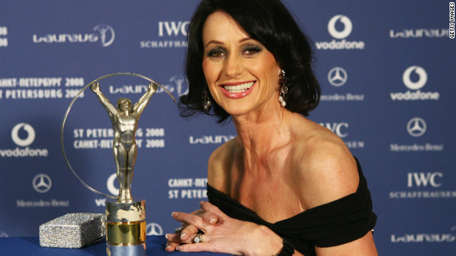 In 2008, Comaneci was honored at the Laureus World Sports Awards for her career achievements.