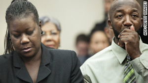 Sybrina Fulton and Tracy Martin spoke to Democratic lawmakers Tuesday on Capitol Hill.