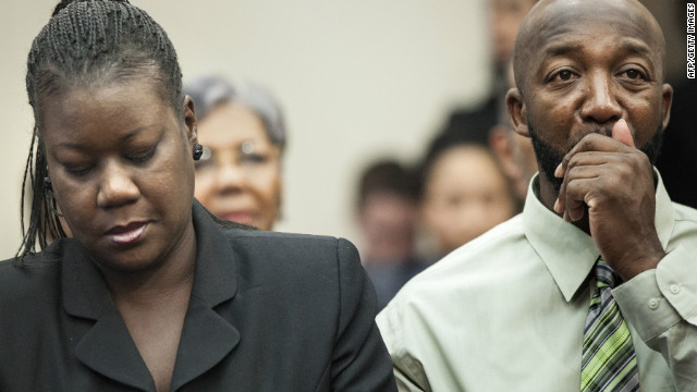 Sybrina Fulton and Tracy Martin, parents of slain Florida teen Trayvon Martin, appear on Capitol Hill Tuesday.