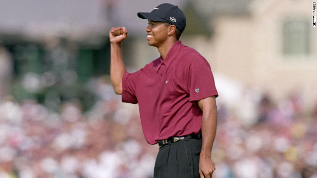 To many, Woods is the greatest player the world has seen. He had already won two of his 14 majors prior to 2000 but the new millennium saw him play golf from another planet. Aged 25, the American won three of the four majors and then the 2001 Masters to become the first man to hold all four titles at once.