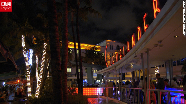 "This prime outdoor spot offers ""the best people watching"" in South Beach for iReporter Jeffrey Moellering."