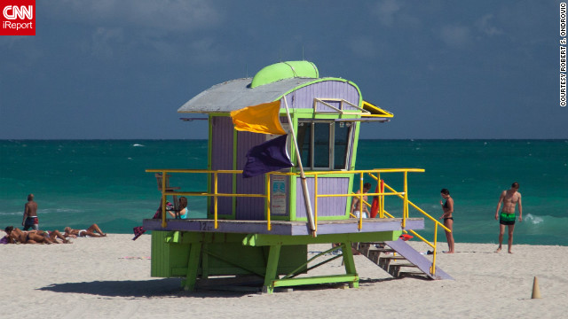 Even South Beach's lifeguard stations can be works of art.